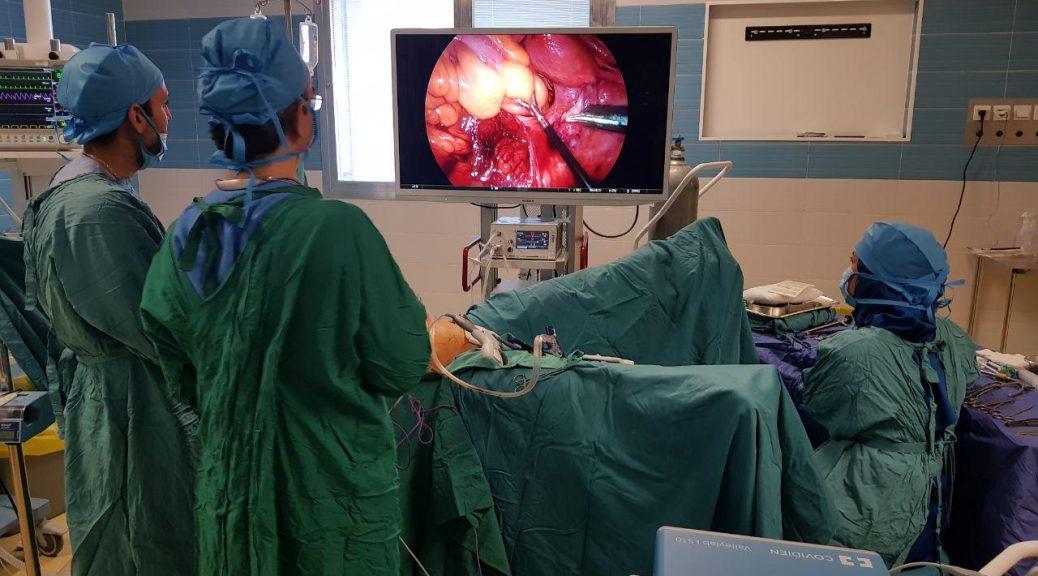 عمل جراحی لاپاراسکوپی پیشرفته دستگاه گوارش تحتانی