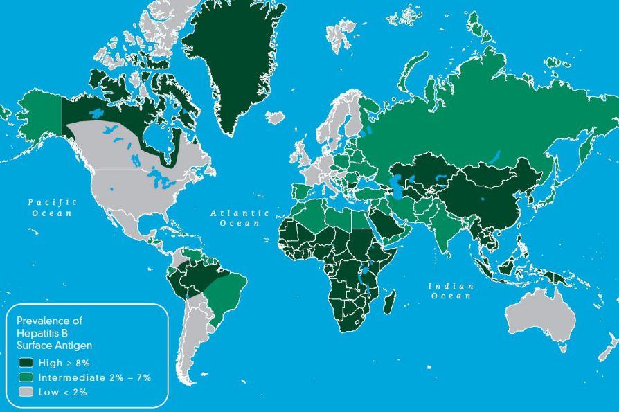 نقشه جهانی هپاتیت بی